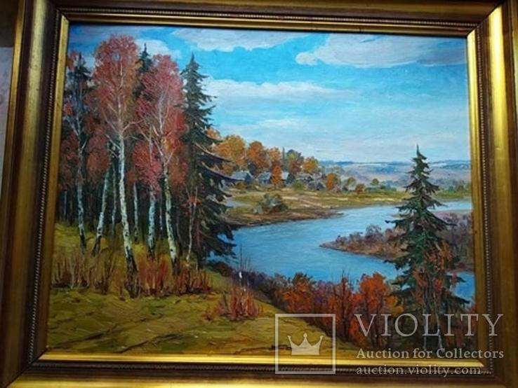 Колоритная картина маслом 50Х40 1987 СССР