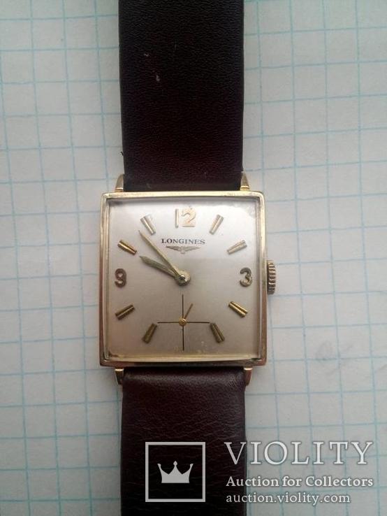 Швейцарские золотые  часы Longines