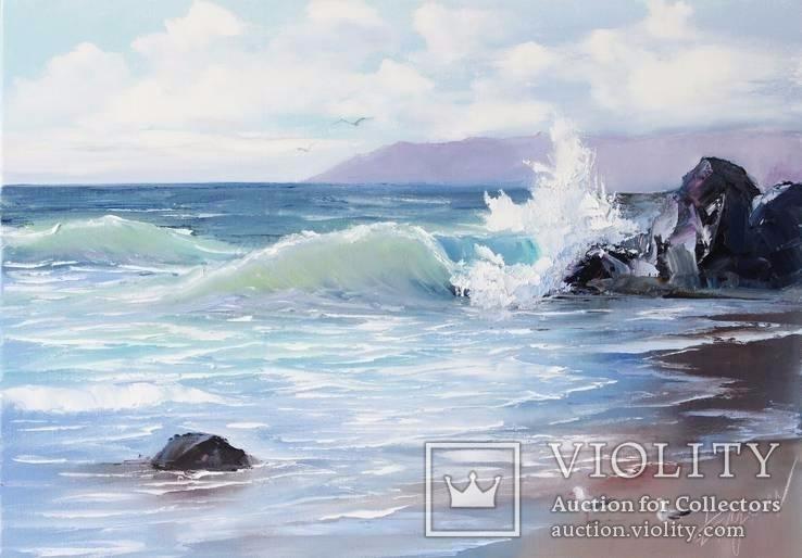Морская волна. Холст, масло. 50*70.