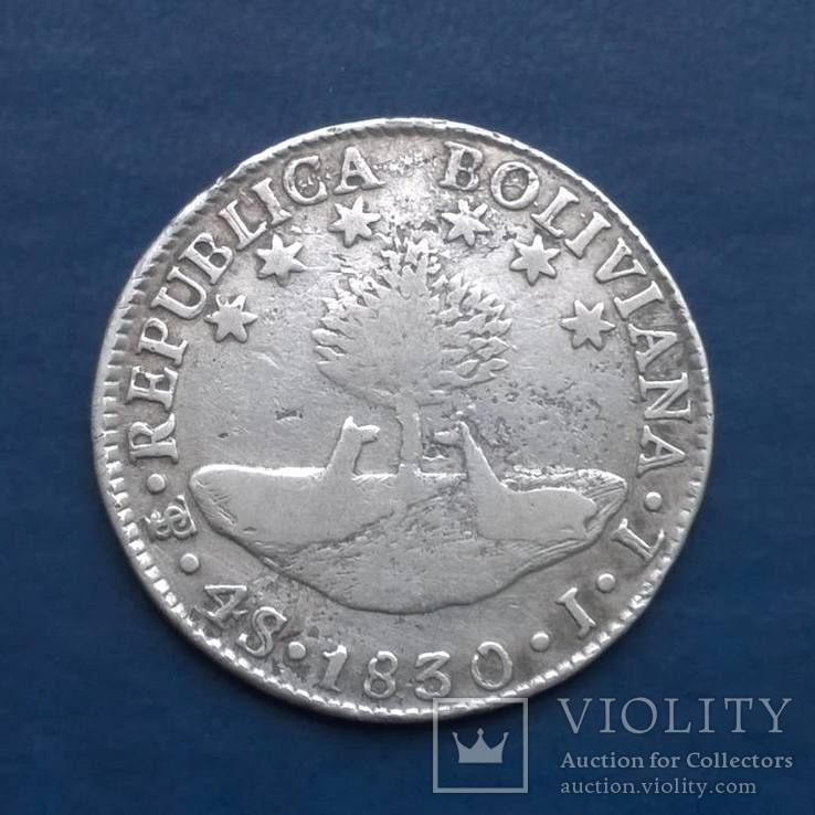 4 Соль 1830, Боливия, серебро