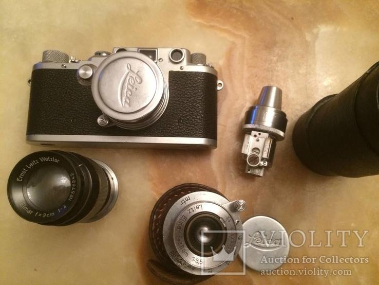 Фотоаппарат LEICA D.R.P. военный номерной с комплектом объективов в отличном состоянии