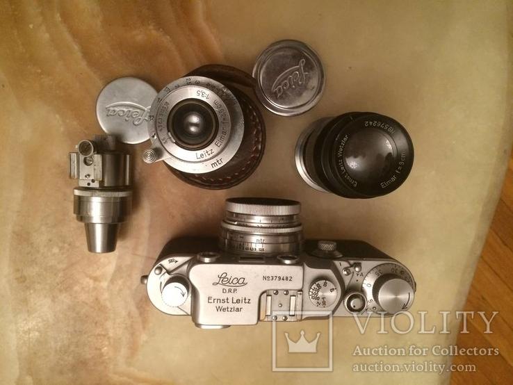 Фотоаппарат LEICA D.R.P. военный номерной с комплектом объективов в отличном состоянии, фото №5