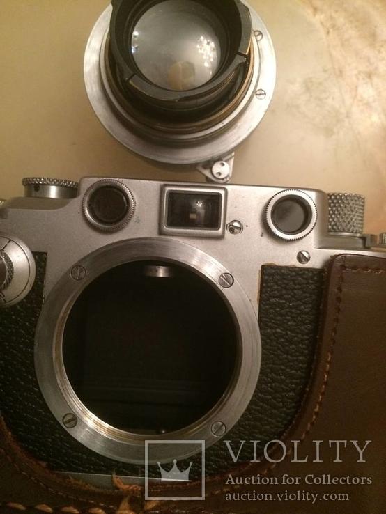 Фотоаппарат LEICA D.R.P. военный номерной с комплектом объективов в отличном состоянии, фото №9