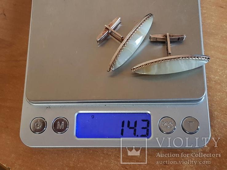 Советские запонки. Серебро 875 проба. Позолота., фото №11