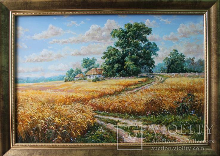 Пейзаж Дорога домой 40х60 холст масло автор Коротков С В