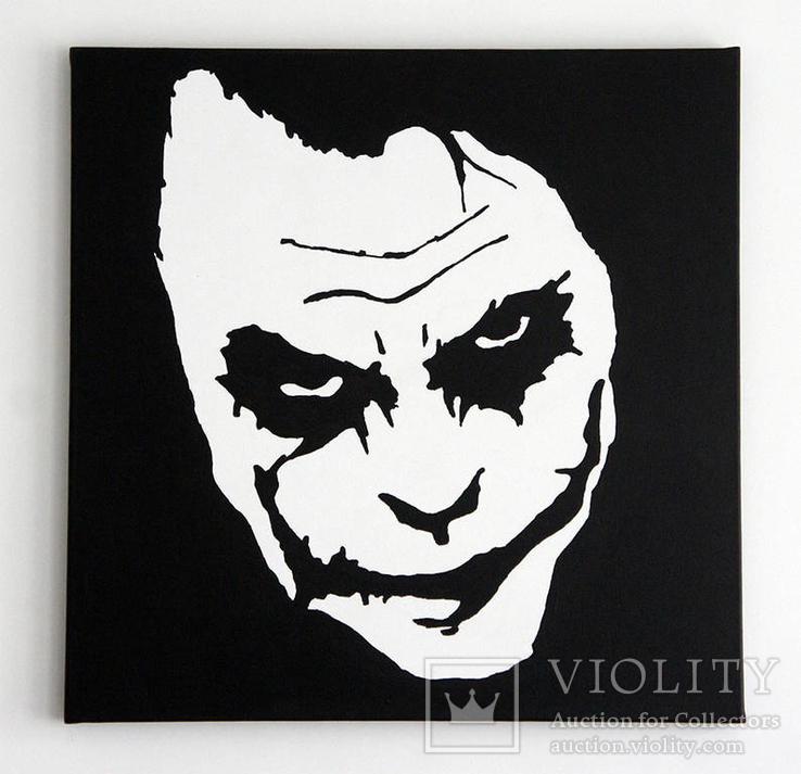 Джокер картина холст акрил 50х50