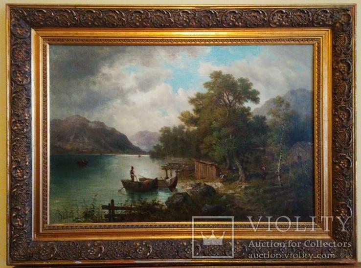 Пейзаж, Европа, 19 век, подпись