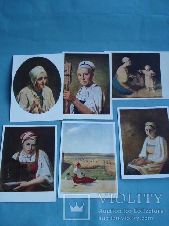 Венецианов Алексей Гаврилович. Набор из десяти открыток, ГТГ., фото №3