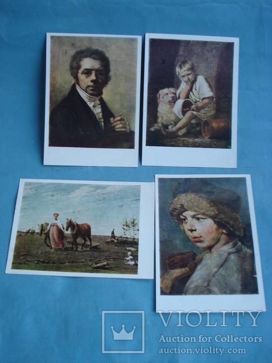 Венецианов Алексей Гаврилович. Набор из десяти открыток, ГТГ., фото №4