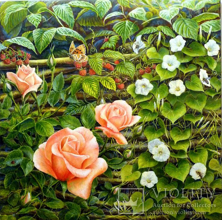 Розы, 60х60 см, 2017, Алессандро  Реми