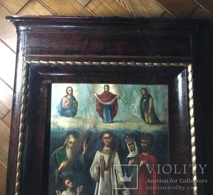"""Икона """"Образ покров пресвятой богородицы"""", фото №8"""