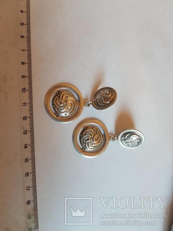 Серьги 925 проба серебро. Украина., фото №5