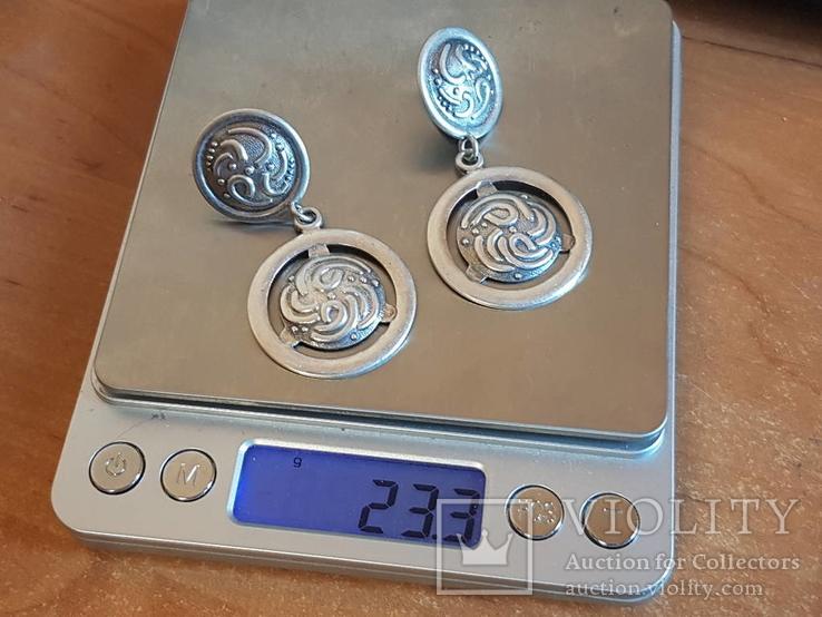 Серьги 925 проба серебро. Украина., фото №12