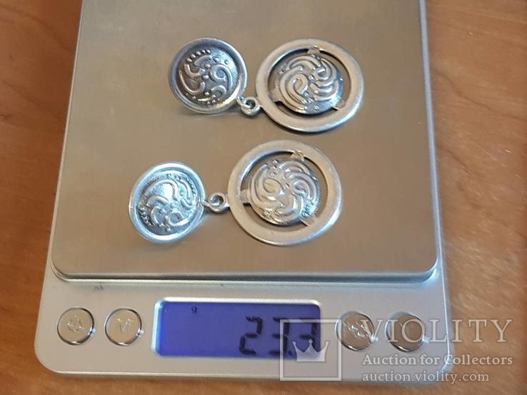 Серьги 925 проба серебро. Украина., фото №13