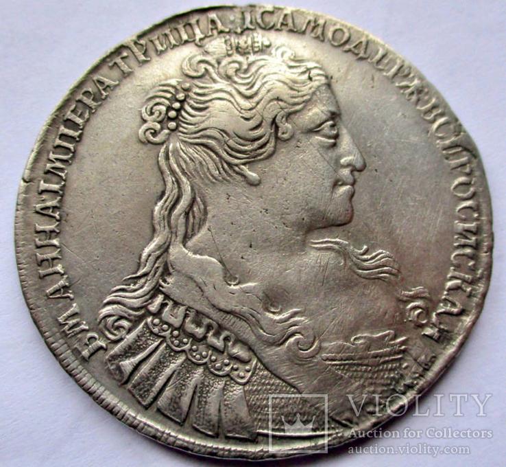 Рубль 1734 года (Переходной портрет) R