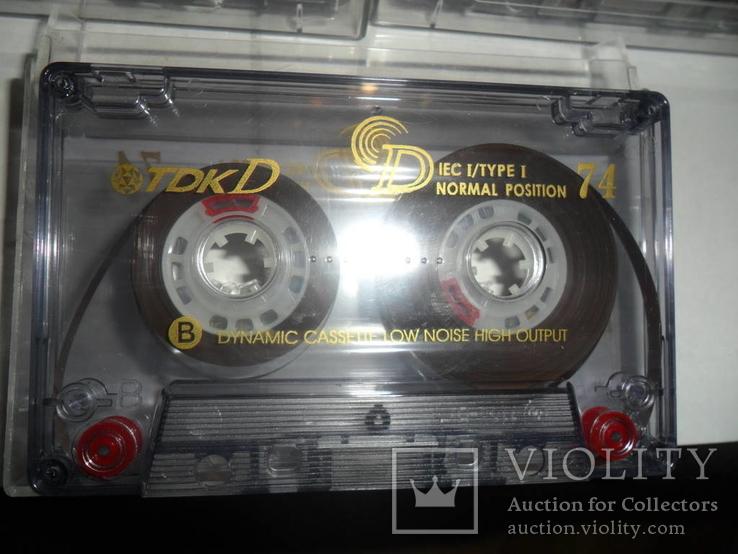Аудиокассета кассета TDK D60 и D74 - 5 шт в лоте, фото №5