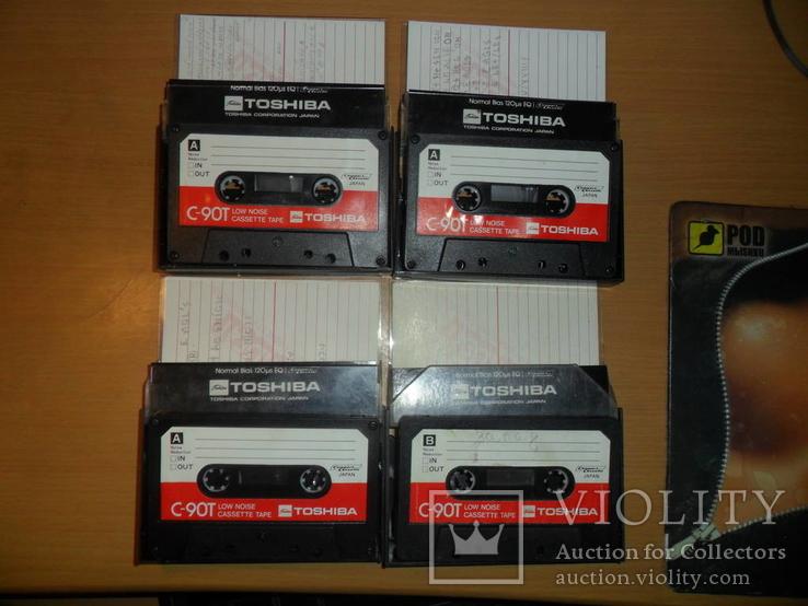 Аудиокассета кассета TOSHIBA C-90T Japan - 4 шт в лоте, фото №2