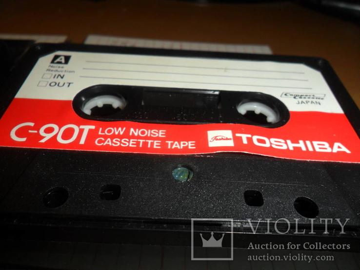 Аудиокассета кассета TOSHIBA C-90T Japan - 4 шт в лоте, фото №3