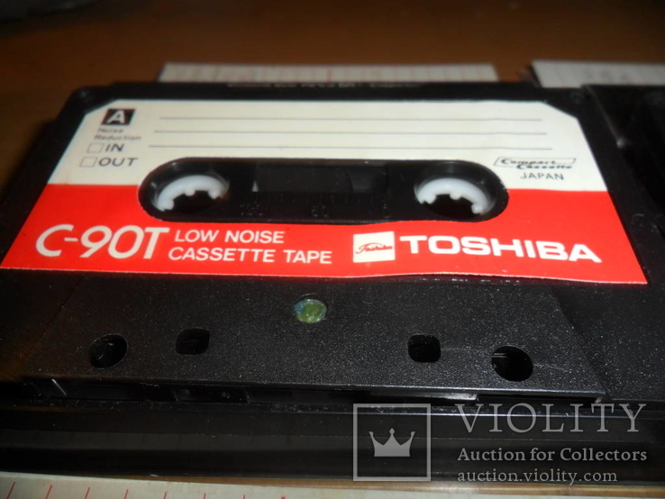 Аудиокассета кассета TOSHIBA C-90T Japan - 4 шт в лоте, фото №4