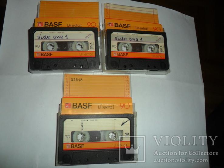 Аудиокассета кассета Basf LH extra I 90 - 3 шт в лоте + бонус, фото №2