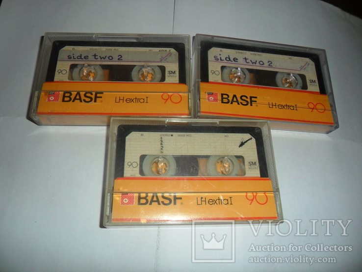 Аудиокассета кассета Basf LH extra I 90 - 3 шт в лоте + бонус, фото №5