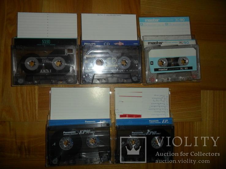 Аудиокассета кассета Philips Akai Panasonic Master- 5 шт в лоте, фото №2
