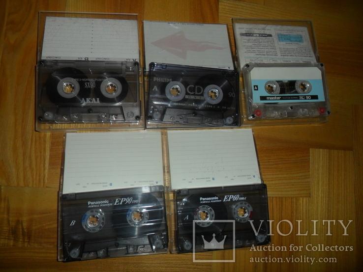Аудиокассета кассета Philips Akai Panasonic Master- 5 шт в лоте, фото №3