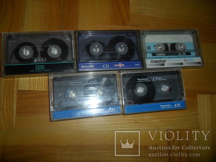 Аудиокассета кассета Philips Akai Panasonic Master- 5 шт в лоте, фото №5