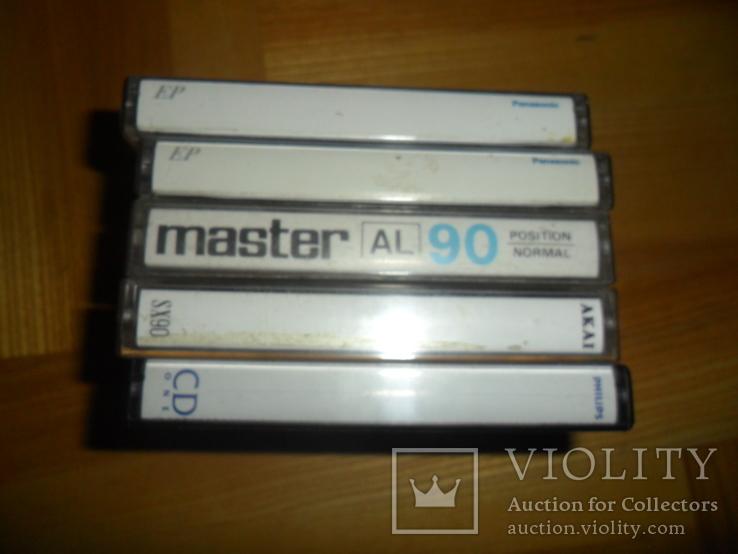 Аудиокассета кассета Philips Akai Panasonic Master- 5 шт в лоте, фото №6