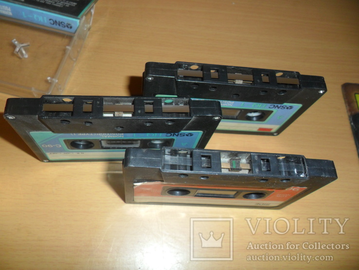 Аудиокассета кассета SNC HQ-1 C-90 и Low-noise-90 - 3 шт в лоте, фото №5