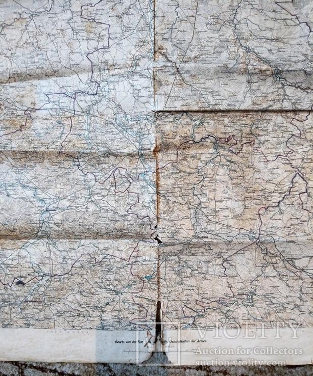 1915 г Карта Немецкого генштаба на польском языке,115х105см, фото №4