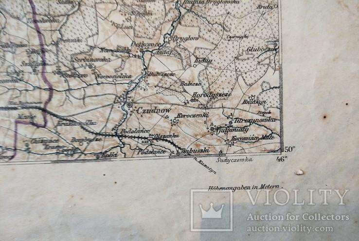 1915 г Карта Немецкого генштаба на польском языке,115х105см, фото №7