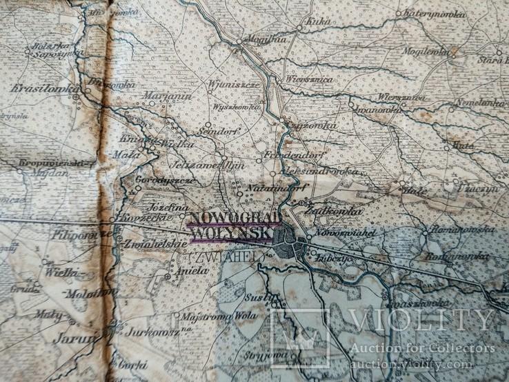 1915 г Карта Немецкого генштаба на польском языке,115х105см, фото №8
