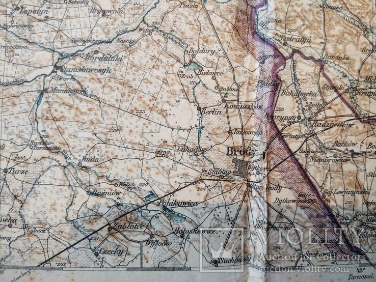 1915 г Карта Немецкого генштаба на польском языке,115х105см, фото №9
