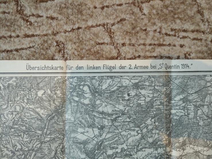 1914 г  Немецкая карта военных действий, фото №4