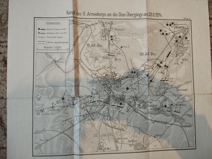 1914 г  Немецкая карта военных действий, фото №8