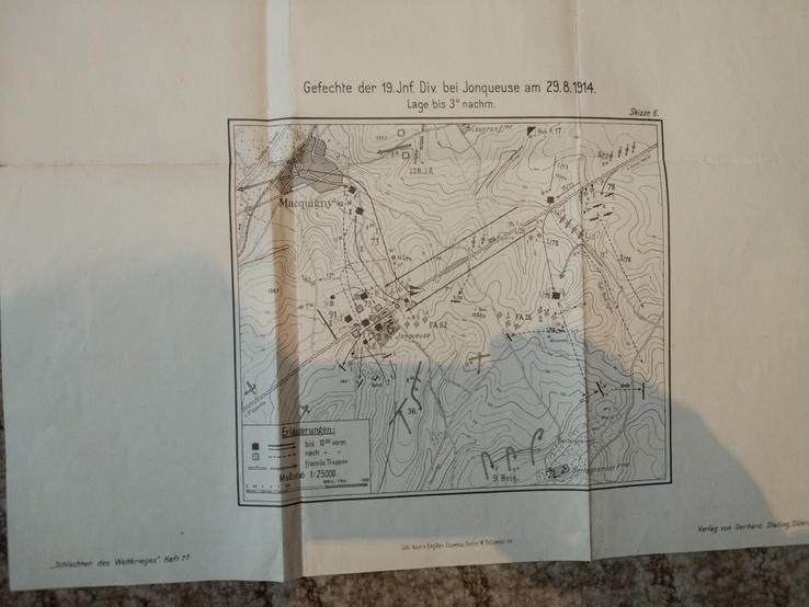 1914 г  Немецкая карта военных действий, фото №9