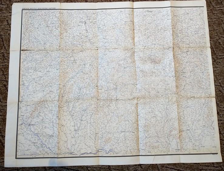 """1935г Карта """"Польша, Чехия"""",56х122 см, фото №2"""