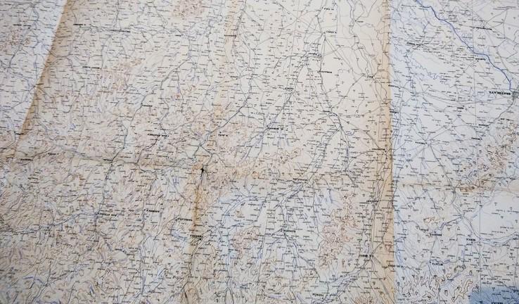 """1935г Карта """"Польша, Чехия"""",56х122 см, фото №4"""