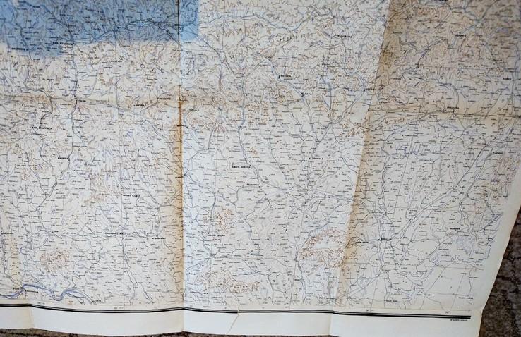 """1935г Карта """"Польша, Чехия"""",56х122 см, фото №5"""