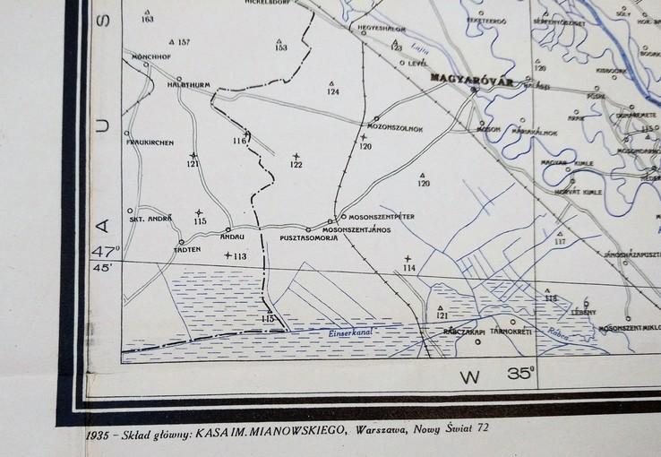 """1935г Карта """"Польша, Чехия"""",56х122 см, фото №7"""