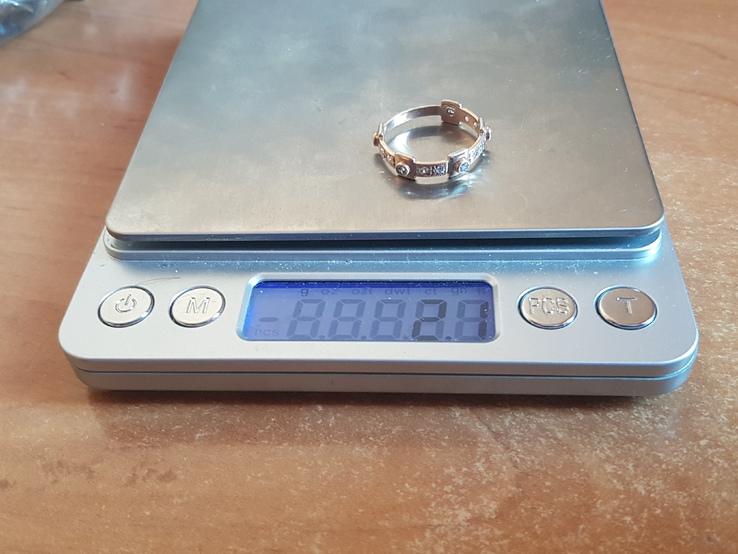 Колечко Украина серебро 925 проба. Позолота. Размер 18., фото №11