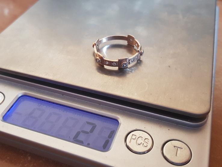 Колечко Украина серебро 925 проба. Позолота. Размер 18., фото №12