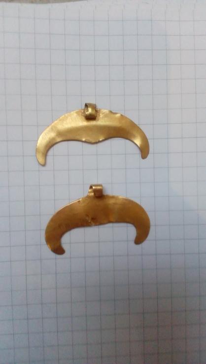 Две лунницы ЧК.Золото  900+