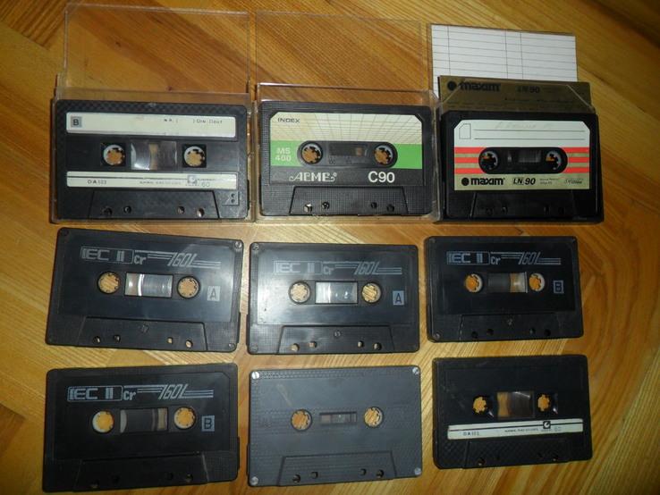 Аудиокассета кассета  - 9 шт в лоте, фото №2