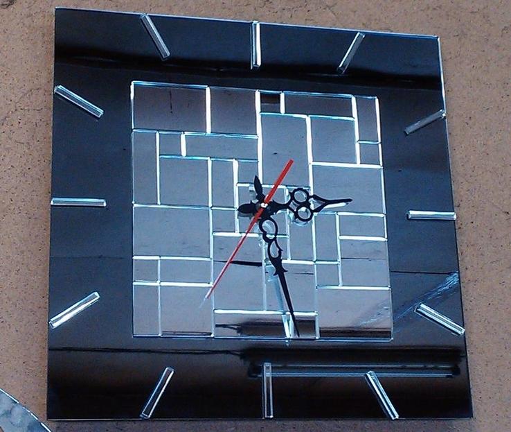 Часы настенные бесшовная мозаика, фото №4