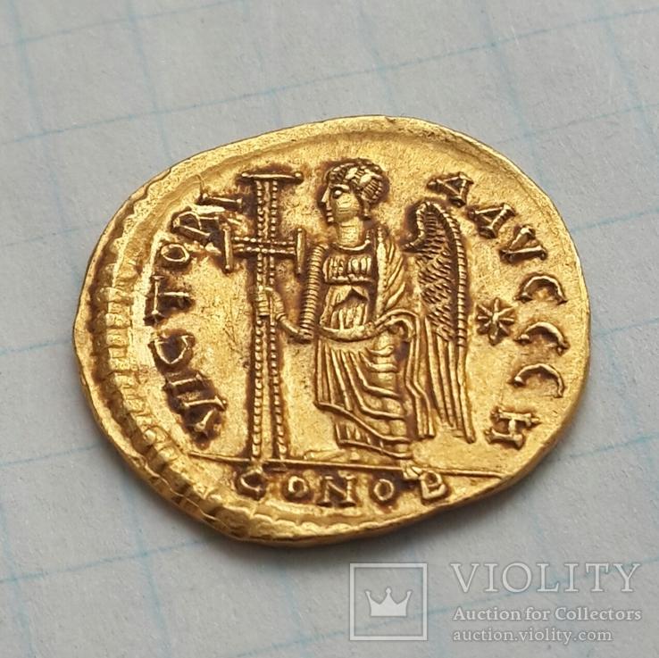 Солид Анастасий 1 - Виктория; 491-492 г.г., Византия, Константинополь; золото