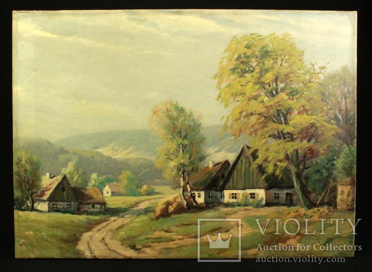 Пейзаж. Масло. Холст. Европа. (0899)