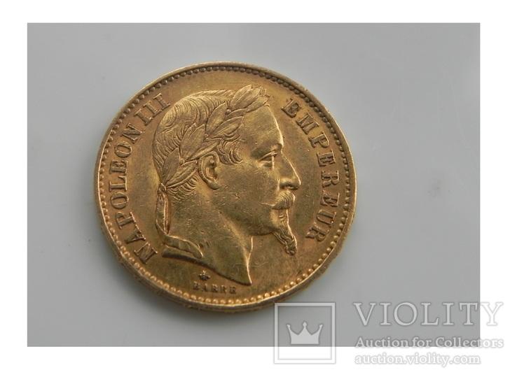 Франция 20 франков 1868 г