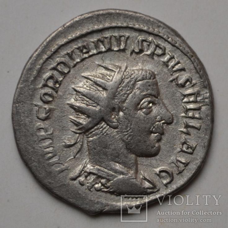 Антониниан Гордиана 3 Фортуна Антиохийского чекана